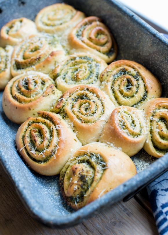 Daslook pesto Broodjes-3